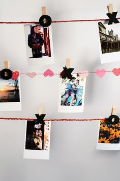 Hang on to those Valentine's Day memories. We're loving this DIY way to display your photos.