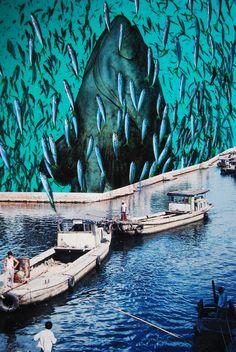 Fish Festival, John Turck Collage