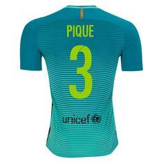 Nike Gerard Pique Barcelona Authentic Third Jersey 16/17 - No Sponsor