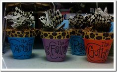 So cute!  Presents for room moms (classroom volunteers) at the end of the year :) Fill it with cookies! Yum!