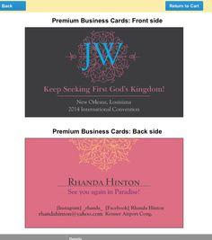 My cards for the international convention! Vistaprint.com
