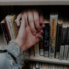 She saw pieces of him in books.