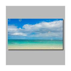 Bubbles on the beach Hawaii photography. Canvas wrap. by NakedEyes
