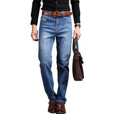 >> Click to Buy << Men Jeans 2017 Spring New Jeans Men Straight Leg Denim Trousers Slim Men's Pants Thin Cool pantalones plus size 28-35-38-40-42 #Affiliate