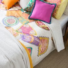 CUSHIONS PRINT BED LINEN - Bedroom - Gypset - Shop by collection   Zara Home Spain