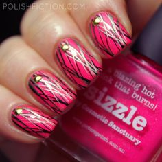 piCture pOlish Sizzle with double stamping and studs