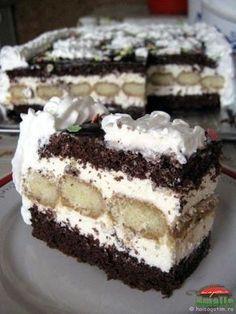 Tort Pasiune (Tort Pasiune0) imagine reteta Romanian Desserts, Russian Desserts, Romanian Food, Candy Recipes, Baking Recipes, Dessert Recipes, My Favorite Food, Favorite Recipes, Kolaci I Torte