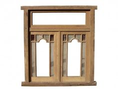 Double Wooden Window with transom.