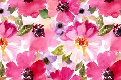 Watercolor patterns set by Juliett Illustration on Creative Market