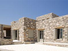 Paros Stonehouse   G&A EVRIPIOTIS   Archinect Paros Greece, Greek House, Desert Homes, Earth Homes, Mediterranean Homes, Stone Houses, Shabby Chic Homes, Bungalow, House Plans