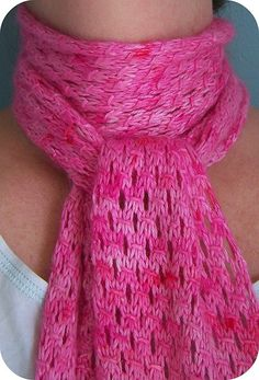 Pretty eyelet scarf pattern