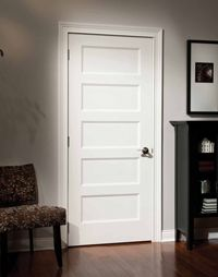 Wood Shaker Interior Door 5 Panel Interior Door
