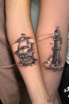 39 Bonding Couple Tattoos-Show Your Passion And Eternal Devotion Neue Tattoos, Bild Tattoos, Body Art Tattoos, Sleeve Tattoos, Cross Tattoos, Matching Relationship Tattoos, Matching Tattoos, Small Couple Tattoos, Small Tattoos
