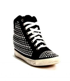 Black Nubuck Studded Sneakers / Boots 20% OFF- Code PINTEREST20