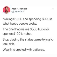 """The Market Hustle 👨💻 on Instagram: """"❌ Don't play the status game of trying to LOOK rich ✅ Play the wealth game and BE rich instead"""" How To Look Rich, That Look, T Play, Hustle, Wealth, Life Quotes, Marketing, Games, Instagram"""