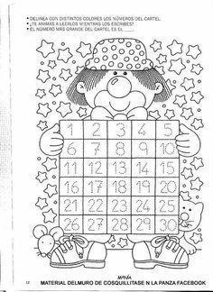 Resultado de imagen para numeros del 20 al 29 para colorear