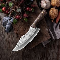 7.6inch Handmade Forged Kitchen Knife Butcher Meat Chopping Cleaver Chinese Chef Knife 5CR15 Stainless Steel Forging Knives, Forged Knife, Butcher Knife, Chopping Knife, Best Kitchen Knives, Wood Source, Handmade Knives, Cooking Tools, Knife Making