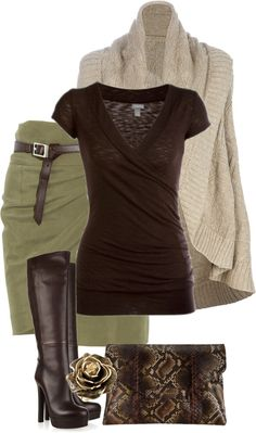 Fall. Might need cami under the shirt, otherwise a great outfit. I would wear this