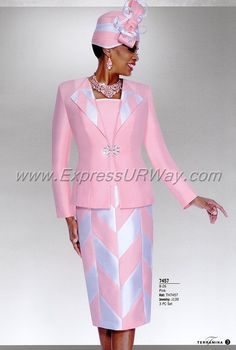 Church Suits by Terramina - Spring 2018 - Church Suits, Womens Church Suits, Ladies Church Suits, Terramina, ExpressURWay Office Outfits Women, Summer Outfits Women, Summer Fashions, Woman Outfits, Mob Dresses, Dresses For Teens, Fashion Dresses, Women Church Suits, Suits For Women