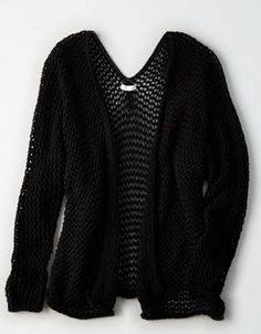 f3840dc0c3a7c Don t Ask Why Open Knit Cardigan by American Eagle Outfitters Black  Cardigan