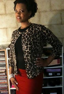 Office Rockabilly totally cute and leopard makes the workplace fun