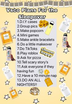 sleepover plans vsco vsco sleepover plansYou can find Vsco sleepover and more on our website Birthday Sleepover Ideas, Sleepover Party Games, Sleepover Activities, Girl Sleepover, Slumber Parties, Sleepover Ideas For Teens, Games For Sleepovers, Bucket List For Teens, Best Friend Bucket List
