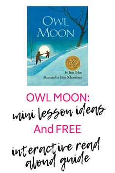 Owl Moon is my favorite mentor text to use! I have 3 great mini lesson ideas to use in your classroom along with an interactive read aloud guide! The read aloud guide helps students use the details of the story to visualize the story, use curoisty to ask and answer questions & to identify figurative language with in the text. Teaching 5th Grade, 5th Grade Reading, Help Teaching, Teaching Reading, Guided Reading, Free Reading, Reading Resources, Reading Strategies, Reading Skills