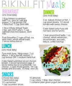 Simple meal plan