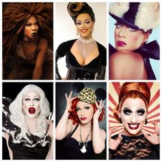 RuPaul's Drag Race Winners: BeBe Zahara Benet, Tyra Sanchez, Raja, Sharon Needles, Jinkx Monsoon  Bianca Del Rio