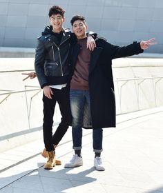 Street style: Byun Woo Seok and Han Seung Soo shot by Baek Seung Won at Seoul Fashion Week Fall 2015