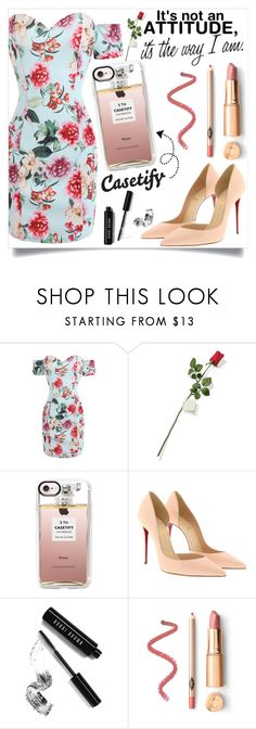 """Find yourself ... Casetify <3"" by suljic-melika ❤ liked on Polyvore featuring Hanky Panky, Casetify, Christian Louboutin and Bobbi Brown Cosmetics"