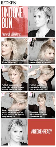 Inspired by the Movie Awards, Click to Discover an Undone Bun Hairstyle Video Tutorial with Redken's Emily Heser