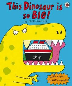 "This Dinosaur Is So Big! is such a fun magnet book - I love Nick Sharratt's bright and bold illustrations. The book comes with 8 giant magnets which you can use to complete silly sentences such as ""This dinosaur is so big it can eat a tree for breakfast"". A great gift book for the dinosaur lover!"
