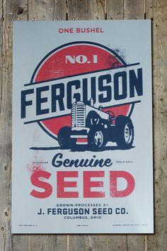Vintage Retro Americana Farmers Old Tractor By FarmhandDesign 2000