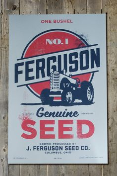 Vintage Retro Americana Farmer's Old Tractor by FarmhandDesign, $20.00