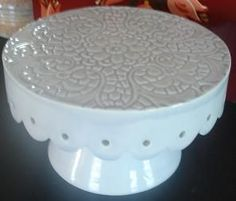 hand made cake stand - how to steps