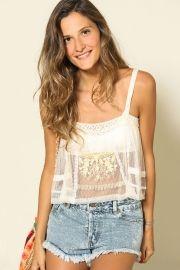 blusa alcinha renda bordada