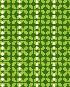 Almond Green Pattern. Design by Maja Moden