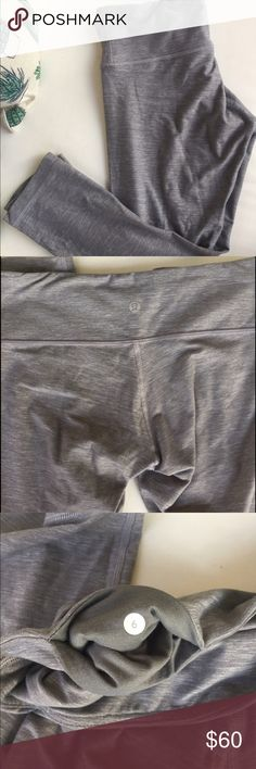 lululemon wunder under crops grey These a light luon so the fabric is much softer and cozier. Heathered grey and in like new condition. No pics no pills. Comfortable and great for anything! lululemon athletica Pants Ankle & Cropped