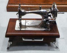 Miniature silver sewing machine. #sewing #machine
