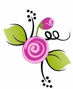 Flor Watercolor Flowers, Watercolor Art, Rock Flowers, Quilting Templates, Fish Crafts, Flower Doodles, Stencil Art, Painting Lessons, Copics