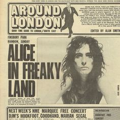 #yearsago #November #6th #1971 Alice In Freaky Land #NewMusicalExpress #alicecooper #alicecooperband #facebookalicecoopercuttings
