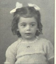 Let us never forget this precious little one Solange Zajdenwerger with two beautiful bows. Solange was gassed at Auschwitz on Aug. 26, 1942.
