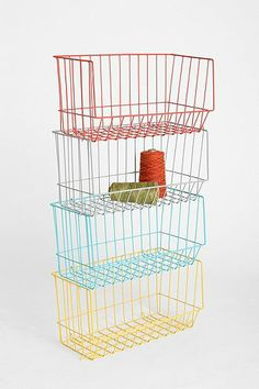 Stackable Brite Basket ($29 UO) Could be cute in the kitchen, used for fruits and veggies. Maybe on the counter for bread/fruit/snacks.