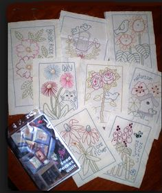 Seed Packet Quilt Pattern Redone. - Red Brolly