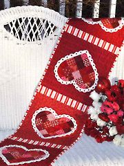Applique Table Topper Patterns - Patchwork Valentine Table Runner Pattern