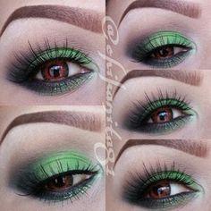 pretty green eye makeup