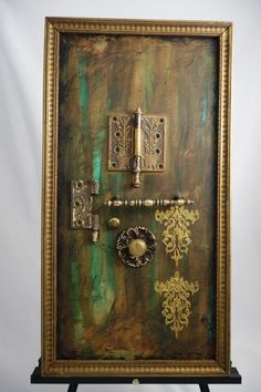 Rustic, mixed media, vintage, original artwork, one of a kind, on canvas by MixNPaint on Etsy