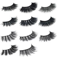 464fc31b986 1Pair 3D Mink Hair Black False Eyelashes Makeup Cosmetics Handmade Thick  Natural Long Mink Eyelashes,
