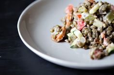 Smoked Lentil Salad with Sriracha Miso Mayonnaise, a recipe on Food52